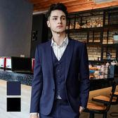 男 獨家款/西裝外套 L AME CHIC 韓國製 經典單扣小劍領修身窄版西裝外套【CTBL082605】