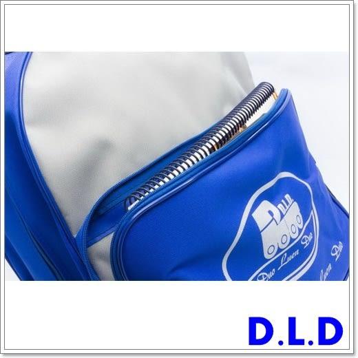 D.L.D  多輪多  專業直排輪  溜冰鞋 專用拉桿包  藍灰