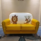 熱賣雙人沙發北歐小戶型服裝店咖啡廳休閒簡約現代臥室網紅款LX coco