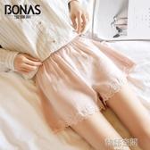 內搭褲2條寶娜斯安全褲防走光女生夏季可內外穿蕾絲薄款打底褲保險短褲  韓語空間