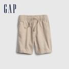 Gap男幼童 亞麻混紡透氣直筒短褲 681550-卡其色