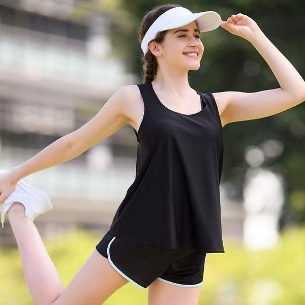 【南紡購物中心】華歌爾-專業運動搭配 M-3L無鋼圈BraT(閃耀黑) 時尚假兩件