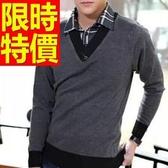 假兩件式襯衫 羊毛時髦-時尚風靡長袖男毛衣3色59ac26【巴黎精品】
