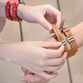 錶帶 凌飏 適用apple watch123愛馬雙扣仕皮質錶帶40/44mm蘋果iwatch4手工制作真皮手錶帶 創想數位