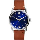 FOSSIL Commuter 尊爵時尚腕錶-藍x咖啡/42mm FS5325
