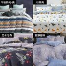 床包 / 雙人【精梳棉活性染-四款可選】含兩件枕套  100%精梳棉  戀家小舖台灣製AAS201