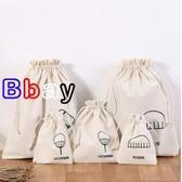 【貝貝】大容量 收納袋 束口 帆布 抽繩袋 抽拉式 布袋子 小布袋