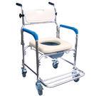 【醫康生活家】杏華 鐵製附輪便器椅(藍) IC102W