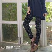 長褲--個性活力滿版星星修身雙口袋鬆緊褲頭牛仔長褲(黑.藍XL-5L)-P114眼圈熊中大尺碼