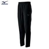 MIZUNO Slim FIT 男裝 長褲 套裝 平織 4WAY彈性 合身 兩側拉鍊口袋 黑【運動世界】32TD008609