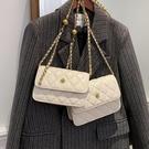 斜背包/側背包 菱格包包女2021新款潮時尚網紅斜挎包鏈條高級質感百搭小方包