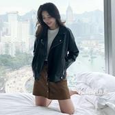皮衣外套女春秋短款機車小皮夾克女新款韓版寬鬆pu皮女士潮季