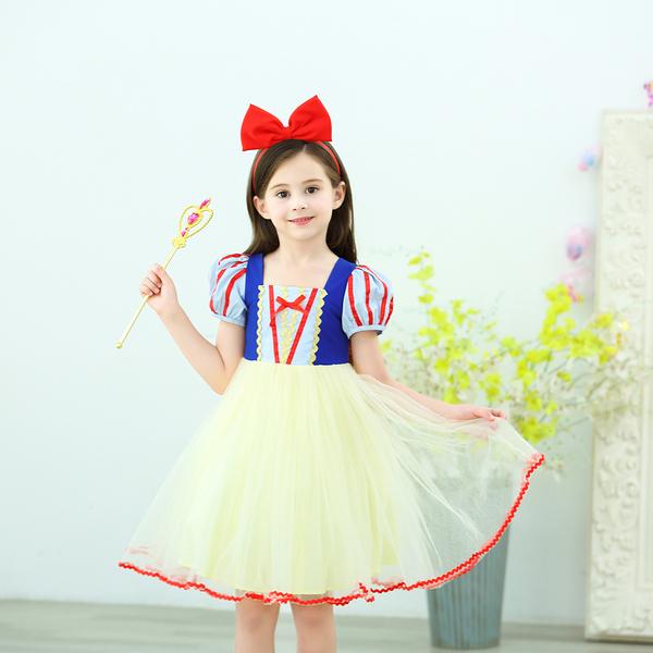 公主 澎澎紗裙 角色扮演 萬聖節服裝 萬聖節 (不含髮箍.魔法棒) 橘魔法 現貨 女童 扮演 裝扮