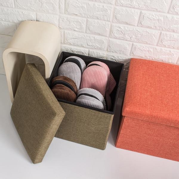 樂嫚妮 收納箱 折疊 收納椅凳 換季衣物收納箱 15L