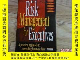 二手書博民逛書店外文原版罕見RISK MANAGEMENT FOR EXECUT
