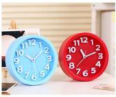 創意靜音鬧鐘懶人學生兒童小鬧鐘鬧表臥室床頭電子時鐘座鐘 全館免運