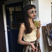 日繫新款街拍ifashion眼鏡墨鏡太陽鏡女潮【聚寶屋】
