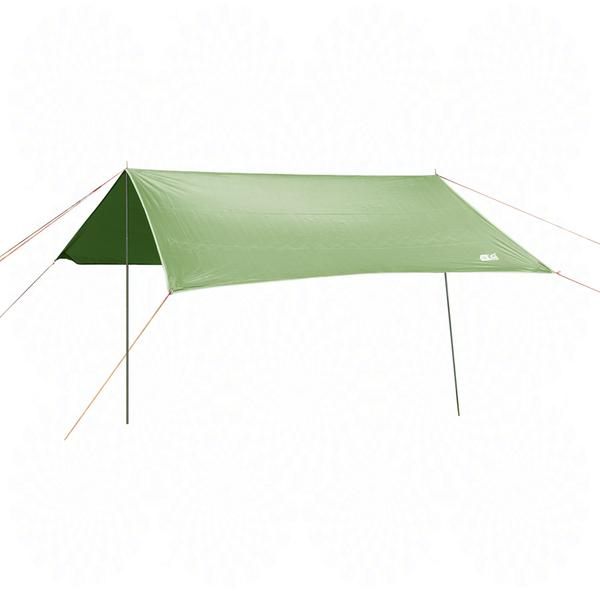 頂級遮陽防水天幕帳篷3x3m附收納袋.露營野餐銀膠塗層抗UV防潮地墊車邊帳外帳方形天幕帳棚