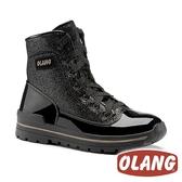【義大利 OLANG】女 POP保暖雪靴 OL-1701W【內厚鋪毛 / 防滑鞋底】黑色 | 雪鞋 雪地靴