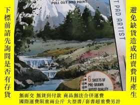 二手書博民逛書店THE罕見PAINT PAD ARTIST WATERCOLOUR LANDSCAPES:6 BEAUTIFUL