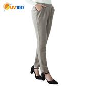 UV100 防曬 抗UV 保暖呢料造型哈倫褲-女