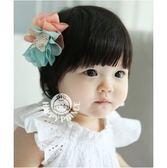 UNICO 韓版雙色花 兒童髮夾/嬰兒髮夾/髮飾/髮帶/飾品/配件