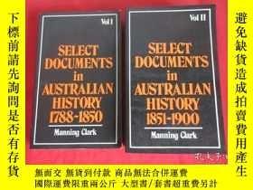 二手書博民逛書店SELECT罕見DOCUMENTS IN AUSTRALIAN HISTORY 1788-1850 (VOL 1,