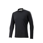 MIZUNO 美津濃 高領長袖緊身衣 (黑)  舒適透氣 吸濕排汗 12TA8C1509 【胖媛的店】