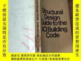 二手書博民逛書店英文《Structural罕見Design Guide to the ACI Building Code(aci建