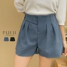 現貨◆ PUFII-短褲 側雙釦後鬆緊素面短褲-1020 秋【CP19307】