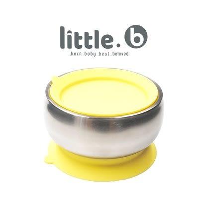 美國 little.b 316不鏽鋼餐具系列|雙層不鏽鋼吸盤碗-精靈黃