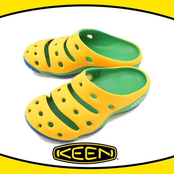 【KEEN 美國 男 Yogui 專業戶外護趾拖鞋《黃/綠/藍》】1011264/透氣/快乾/沙灘鞋/懶人拖