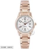 【台南 時代鐘錶 SIGMA】簡約時尚 藍寶石鏡面 數字 日期顯示 鋼錶帶女錶 88023L-RG 玫瑰金 26mm