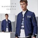 ※現貨 字母刺繡風衣夾克/棒球外套 藍2XL碼【CW434204】