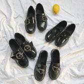 樂福鞋ulzzang英倫學院風小皮鞋百搭秋冬學生單鞋一腳蹬女 愛麗絲精品