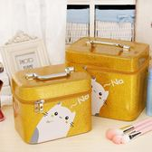 化妝包大容量多功能簡約雙層手提旅行便攜新品洗漱包化妝收納包盒 晴天時尚館