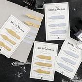 【BlueCat】經典骨董鋼筆尖頭便條紙 N次貼 便利貼