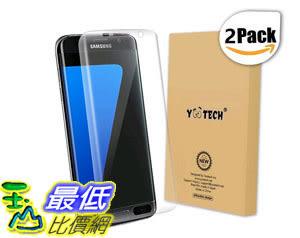 [105美國直購] 螢幕保護膜 Galaxy S7 Edge Screen Protector [Full Coverage] [2-Pack] [Anti-Bubble] HD Clear B01ANIYOZ0