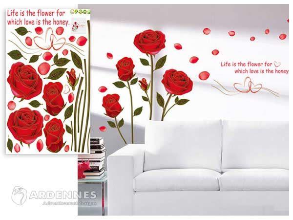【ARDENNES】創意組合DIY壁貼/牆貼/兒童教室佈置/可重複貼 金邊玫瑰