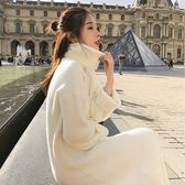 高領毛衣女秋冬2018新款韓版寬鬆過膝毛衣裙中長款針織打底連衣裙  良品鋪子