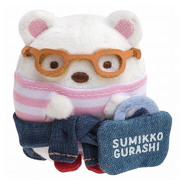 【角落生物 丹寧 迷你娃娃】角落生物 丹寧 迷你 手掌娃娃 北極熊 日本正版 該該貝比日本精品