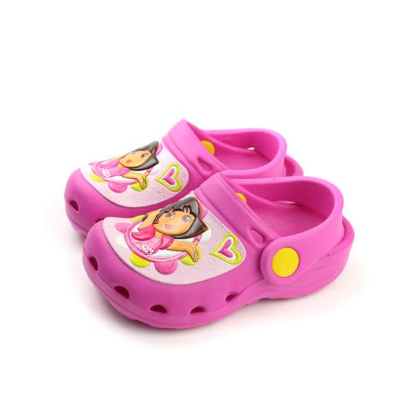 Dora 朵拉 二代 涼鞋 花園鞋 防水 雨天 桃紅 中童 DR2939 no708