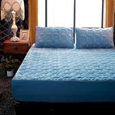限定款鋪棉單床包/雙人珊瑚絨床包單件180x200公分加厚舖棉保暖席夢思床墊套保護套保潔墊jj