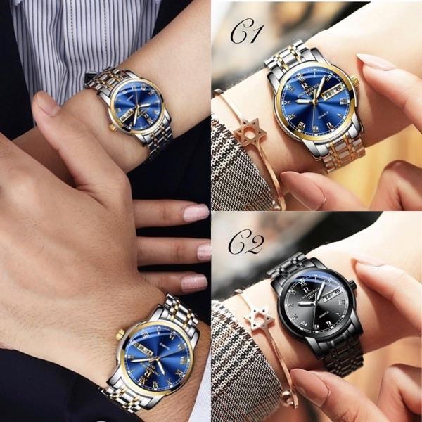 【南紡購物中心】ONTHEEDGE雙曆顯示防水男女對錶
