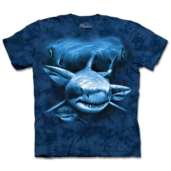【摩達客】 (預購) 美國進口【The Mountain】自然純棉系列 鯊魚瞳 T恤(10413045136a)