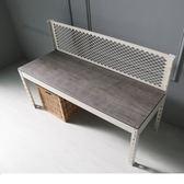 角鋼美學 工業風免鎖角鋼板凳/矮凳-白框2色 / H&D東稻家居