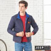 【JEEP】收納式保暖輕羽絨外套 (深藍)