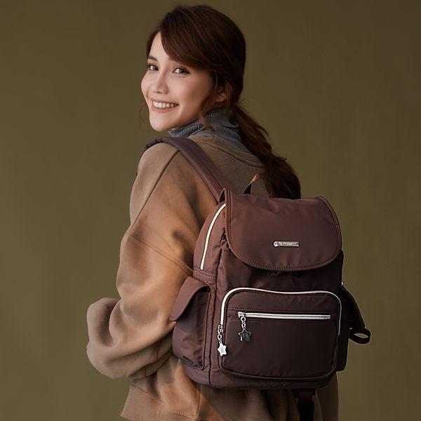 金安德森 城市酷玩 大容量前袋式後背包 咖啡色