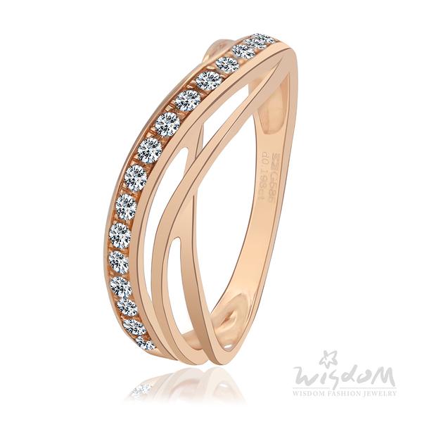 威世登 輕舞飛揚 玫瑰金鑽石戒指 婚戒推薦 情人節禮物 DA02724-2-BGAXX