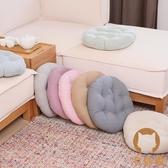直徑40公分棉麻椅子坐墊地上座墊榻榻米加厚圓形增高坐墊【宅貓醬】